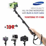 Toko Yunteng Yt 1188 Tongsis Selfie Stick Monopod Built In Aux Cable And Phone Clip Free Power Bank Slim Lengkap