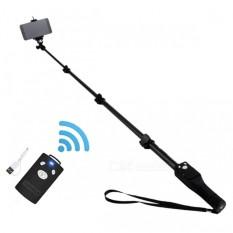 Toko Yunteng Yt 1288 Monopod Selfie Stick Tongsis Bluetooth With Shutter And U Holder Yt1288 Hitam Dekat Sini