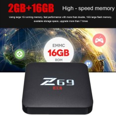 Z69 4 K HD 3D TV Box Android 6.0 S905X Cortex A53 Prosesor 2 GB + 16 GB WiFi BT4.0 UK Plug-Intl