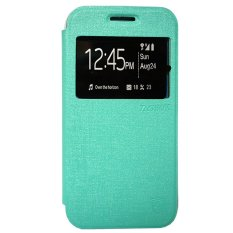 Zagbox Flip Cover for Oppo Mirror 3 - Hijau Tosca