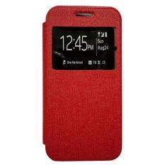 Zagbox Flip Cover Lenovo A6020 K5 plus - Merah