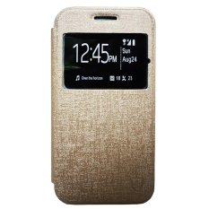 Zagbox Flip Cover LG LEON/H340N - Gold