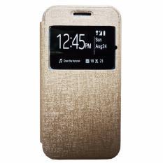 Zagbox Flip Cover Oppo F3 Plus /R9S Plus  - Gold