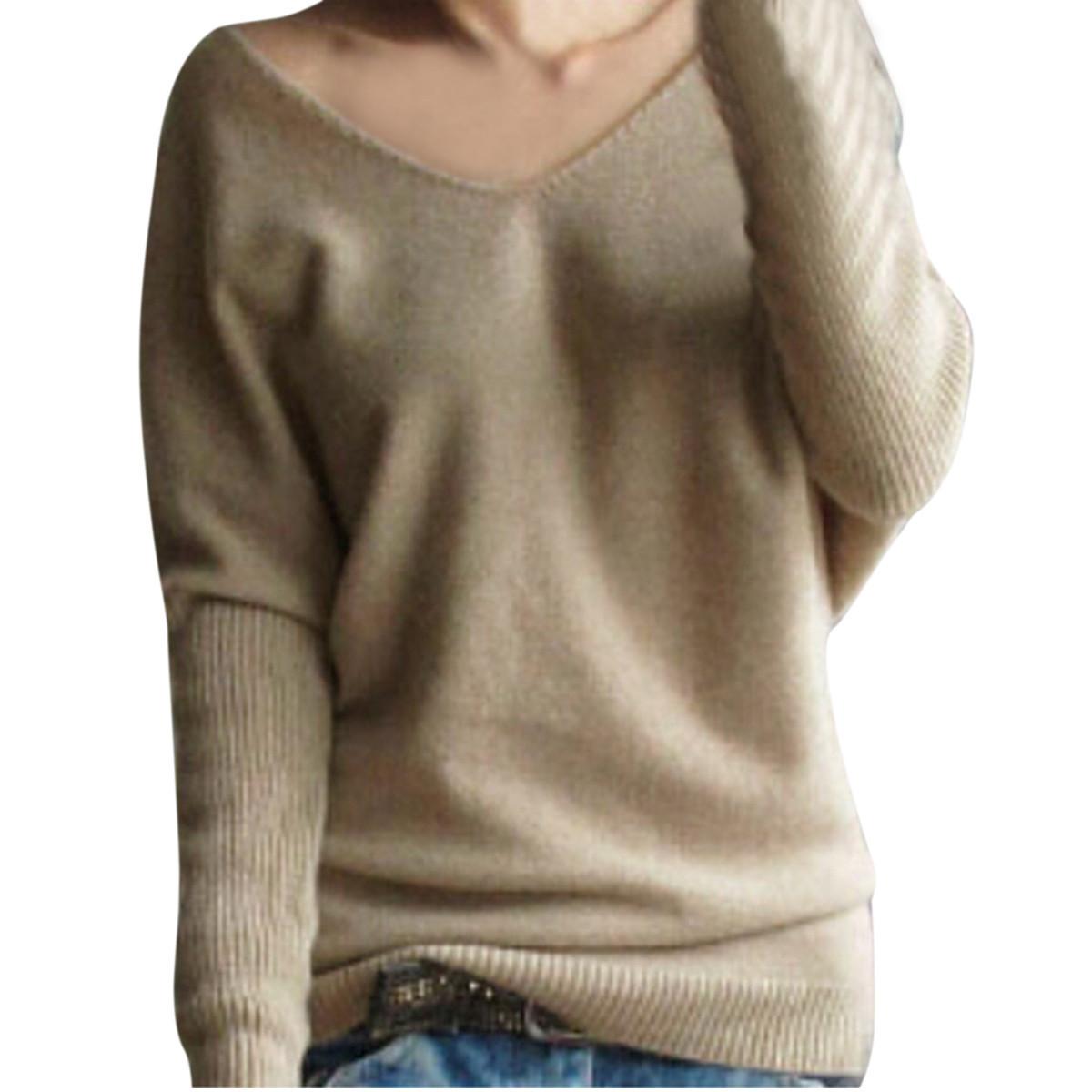 Beli Zanzea Seksi Damen Strick Pulover V Leher Switer Yang Bagus