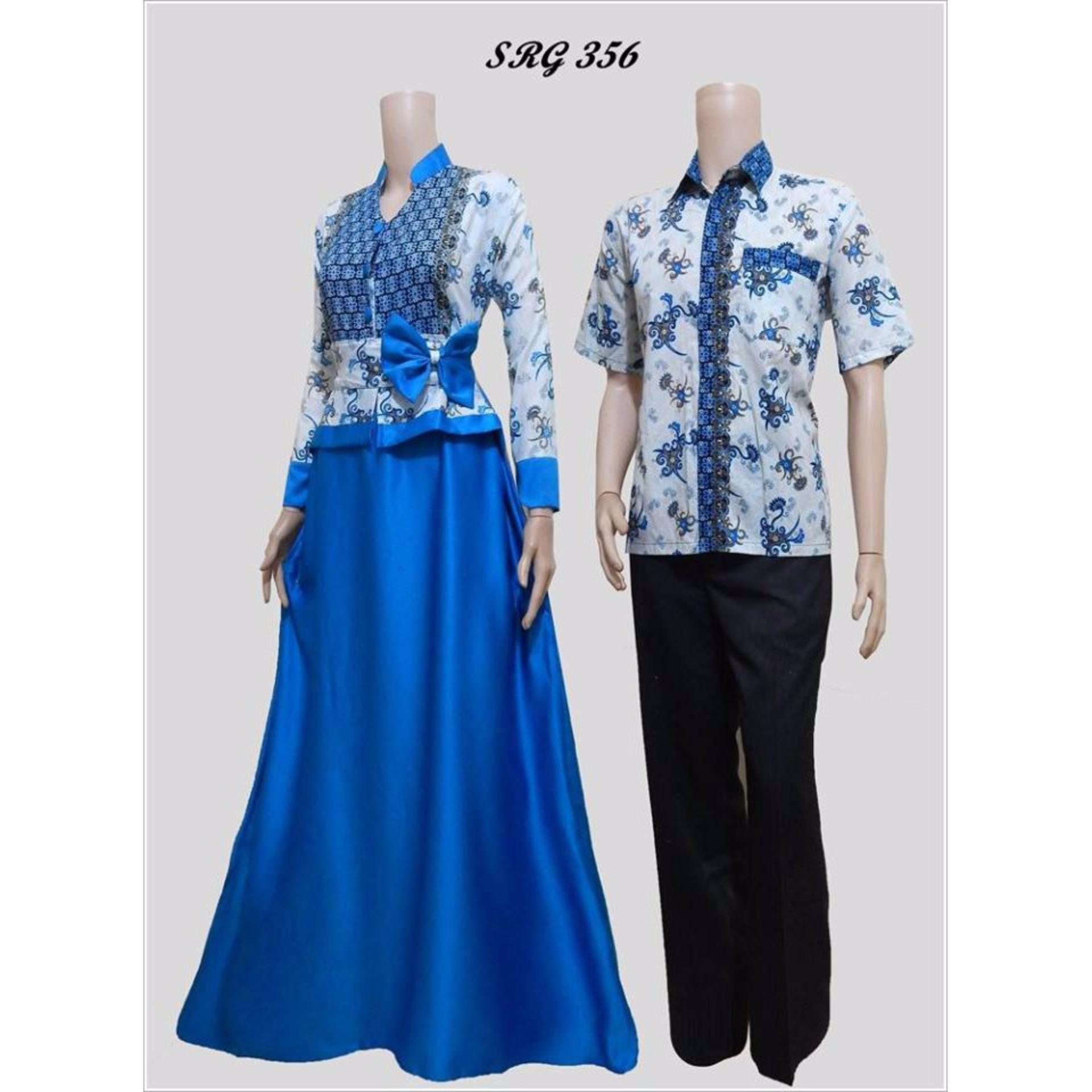 Zaviera Sarimbit Couple Batik Gamis  SRG 356