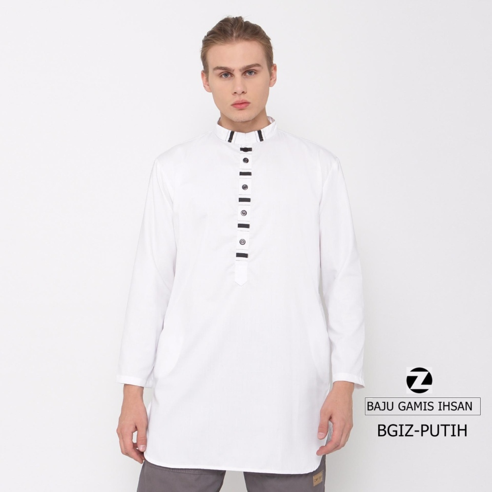 Spesifikasi Zayidan Baju Muslim Gamis Ihsan Putih Yang Bagus