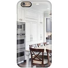 Zbvbivj29082Inkpd Putih Besar Tradisional Kitchen Island dengan Tempat Duduk Fashion TPU 6 Case Cover untuk IPhone-Intl