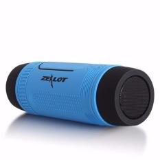 Beli Zealot Bluetooth Speaker Waterproof Dengan Powerbank 4000Mah Senter Blue Zealot