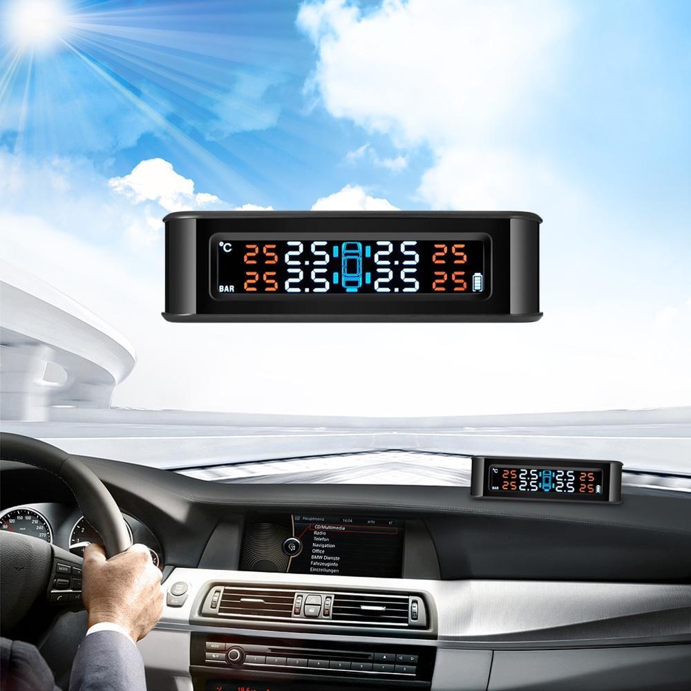 Jual Zeepin C220 Solar Powered Tpms Tekanan Ban Mobil Monitor Sistem 4 Sensor Eksternal Intl Branded Murah