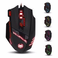 Harga Zelotes T90 Gaming Mice 9200 Dpi Wired Usb Komputer Mouse Untuk Pc Mac 8 Tombol Multi Mode Lampu Led Intl Zelotes Original