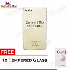Zenblade Anti Shock Anti Crack Softcase Casing for Asus Zenfone 4 Max Pro ZC554KL + Free Tempered Glass
