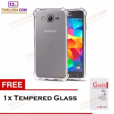 Zenblade Anti Shock Anti Crack Softcase Casing for Samsung J1 Ace - Free Tempered Glass