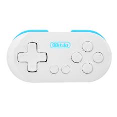 Nol 8Bitdo Gamepad nirkabel Bluetooth - putih + Biru