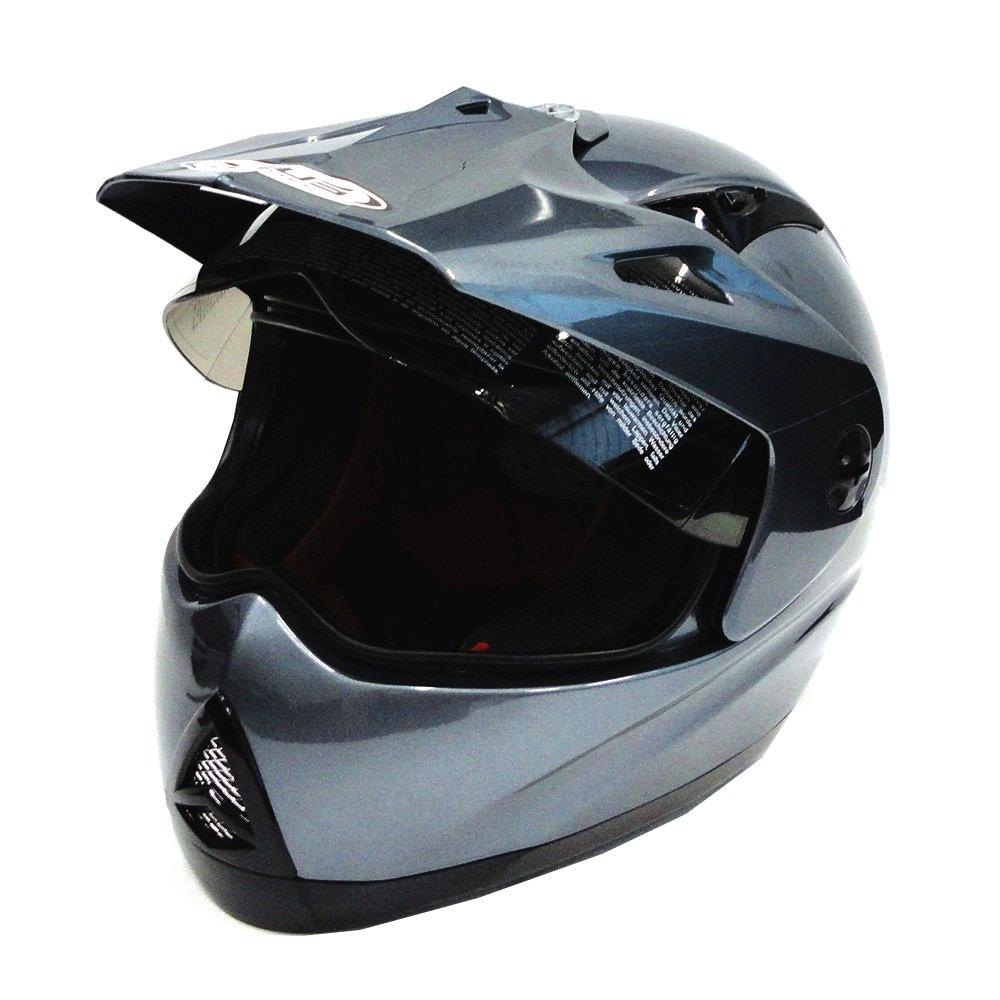 Review Toko Zeus Helm Full Face Super Moto Zs2100B Polos Titanium