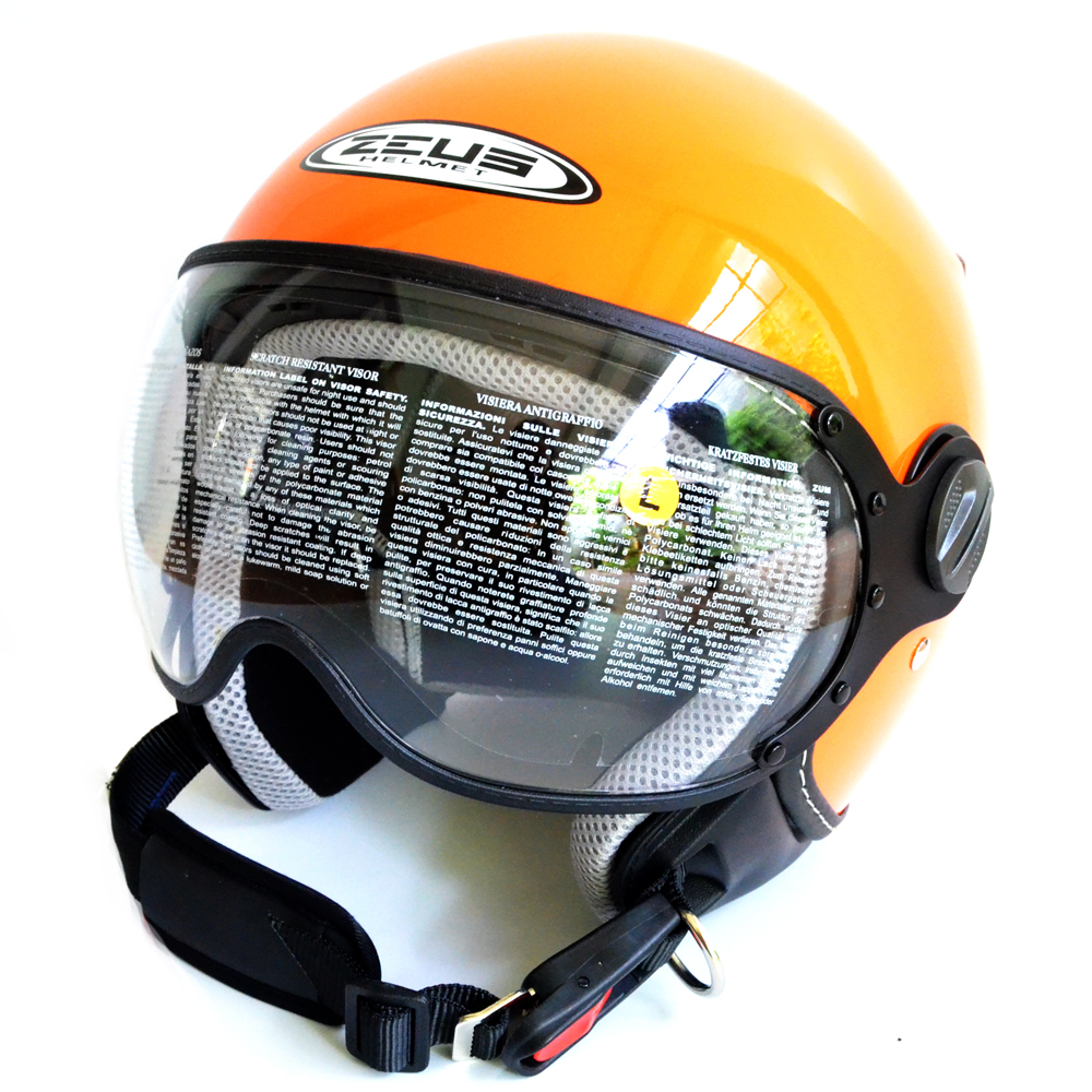 Jual Zeus Helm Half Face Zs 210K Polos Orange Indonesia