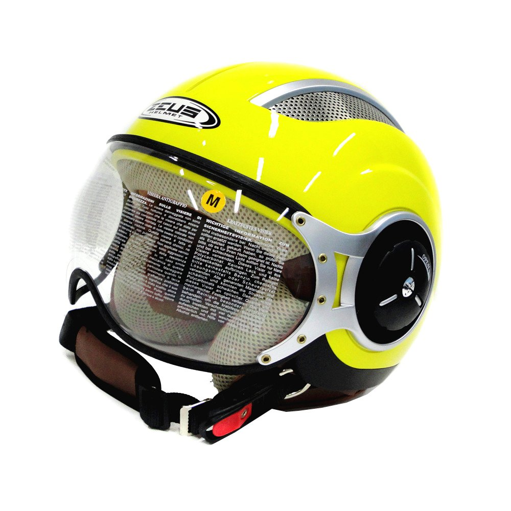 Beli Zeus Helm Half Face Zs 218 Retro Iron Head Kuning Kredit Indonesia