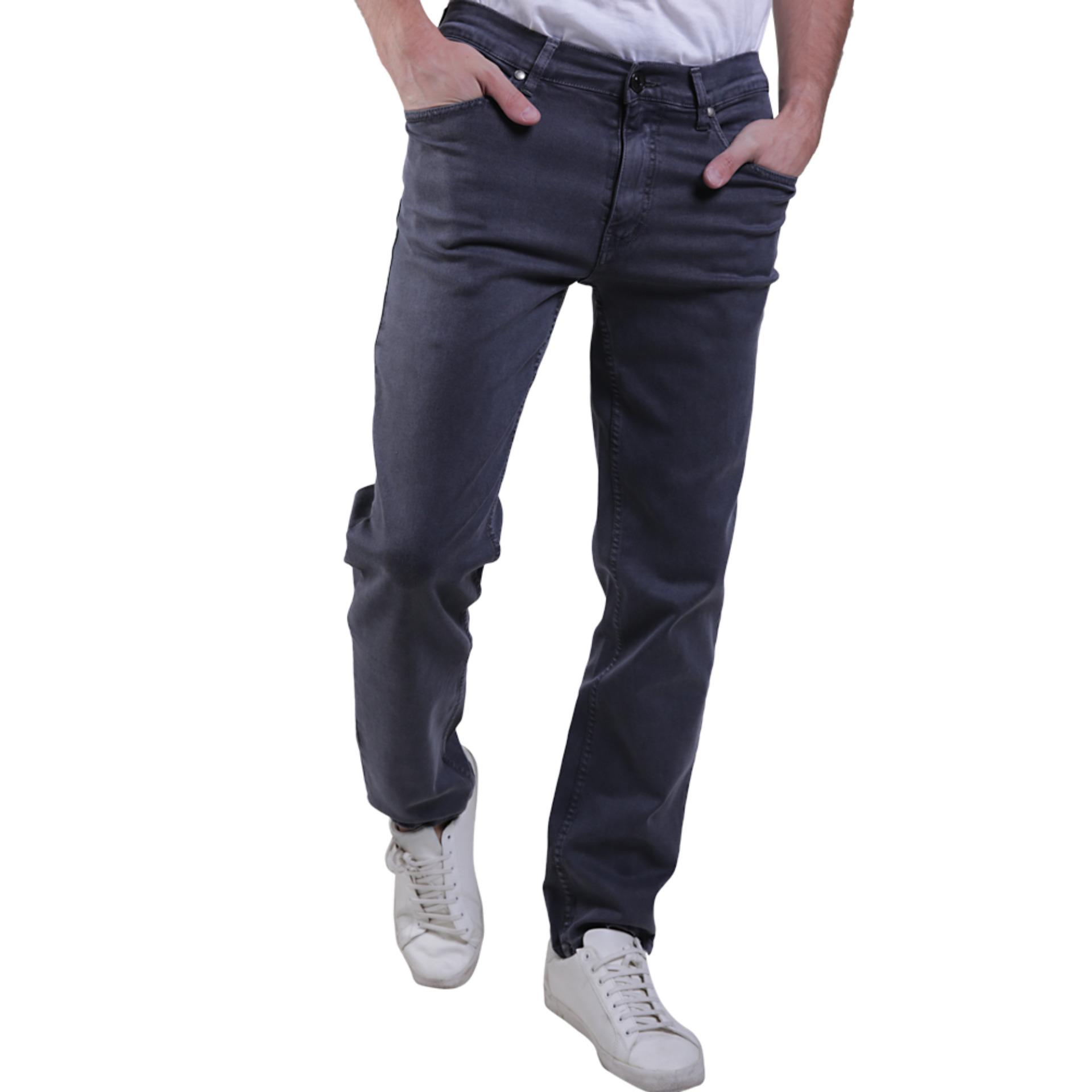 Diskon Zg Zegoboss Soft Stretch Denim Regular Fit Jeans Grey Silver Zg Zegoboss