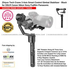 Zhiyun Tech Crane 3-Axis Smart Control Gimbal Stabilizer Black - Garansi Resmi Zhiyun 1th for DSLR Canon Nikon Sony Fujifilm Panasonic