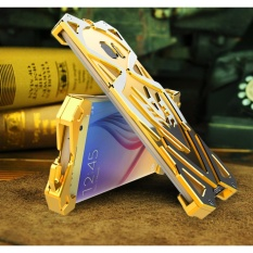 zimon Original Brand Shockproof Anti-knock Back Cover metal aviation Aluminum Tough armor Phone cases covers for samsung galaxy S6 edge plus cases bumper (Gold) - intl