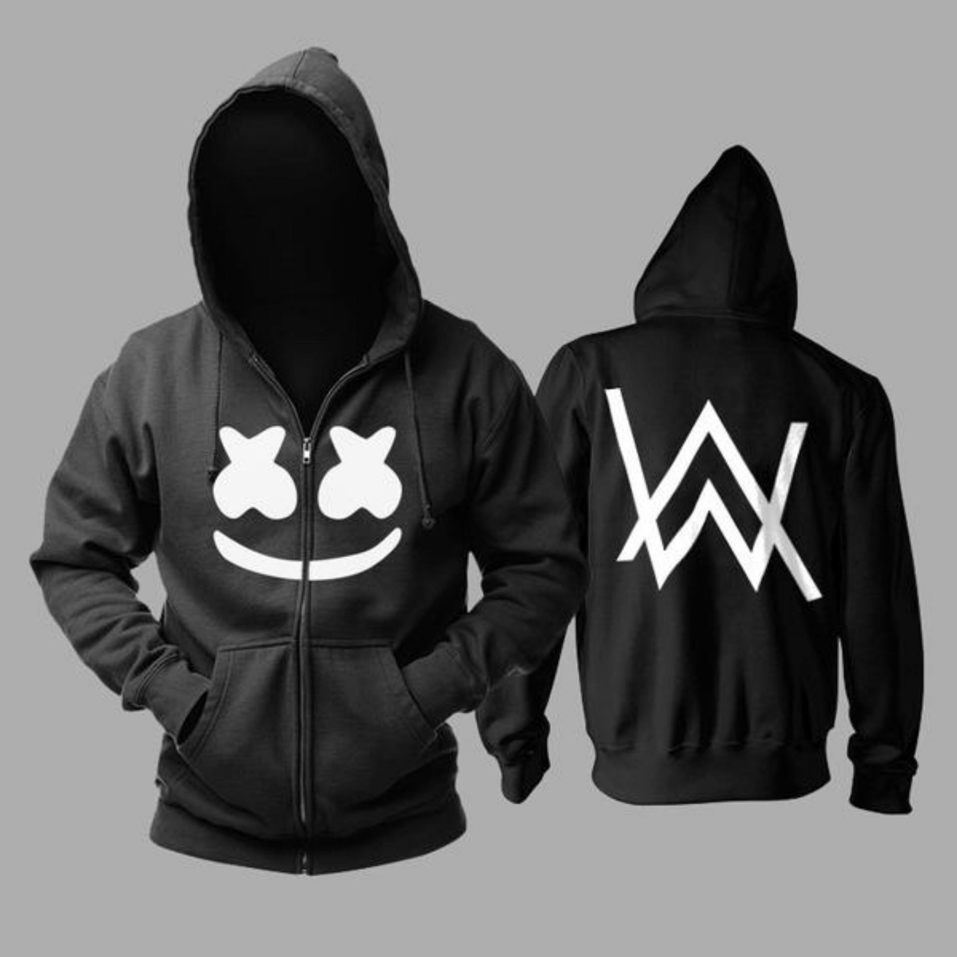 Beli Zipper Hoodie Marsmello Ft Alan Walker Hitam Lengkap