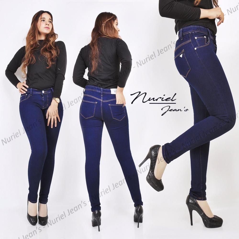 ZJeans Celana Jeans Wanita Terbaru Skinny Stretch Jeans Navy Polos 27-34
