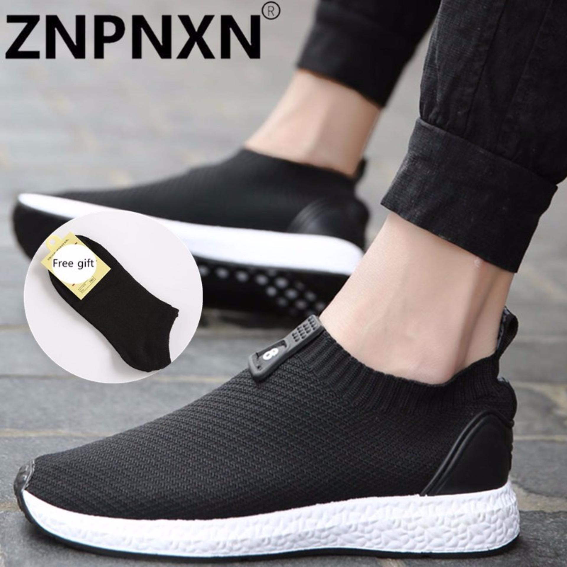 Jual Cepat Znpnxn Kaus Menjalankan Sepatu For Pria Mesh Bernapas Olahraga Sepatu Sneakers Pria English Cahaya Sepatu Olahraga Hitam Dan Putih Intl