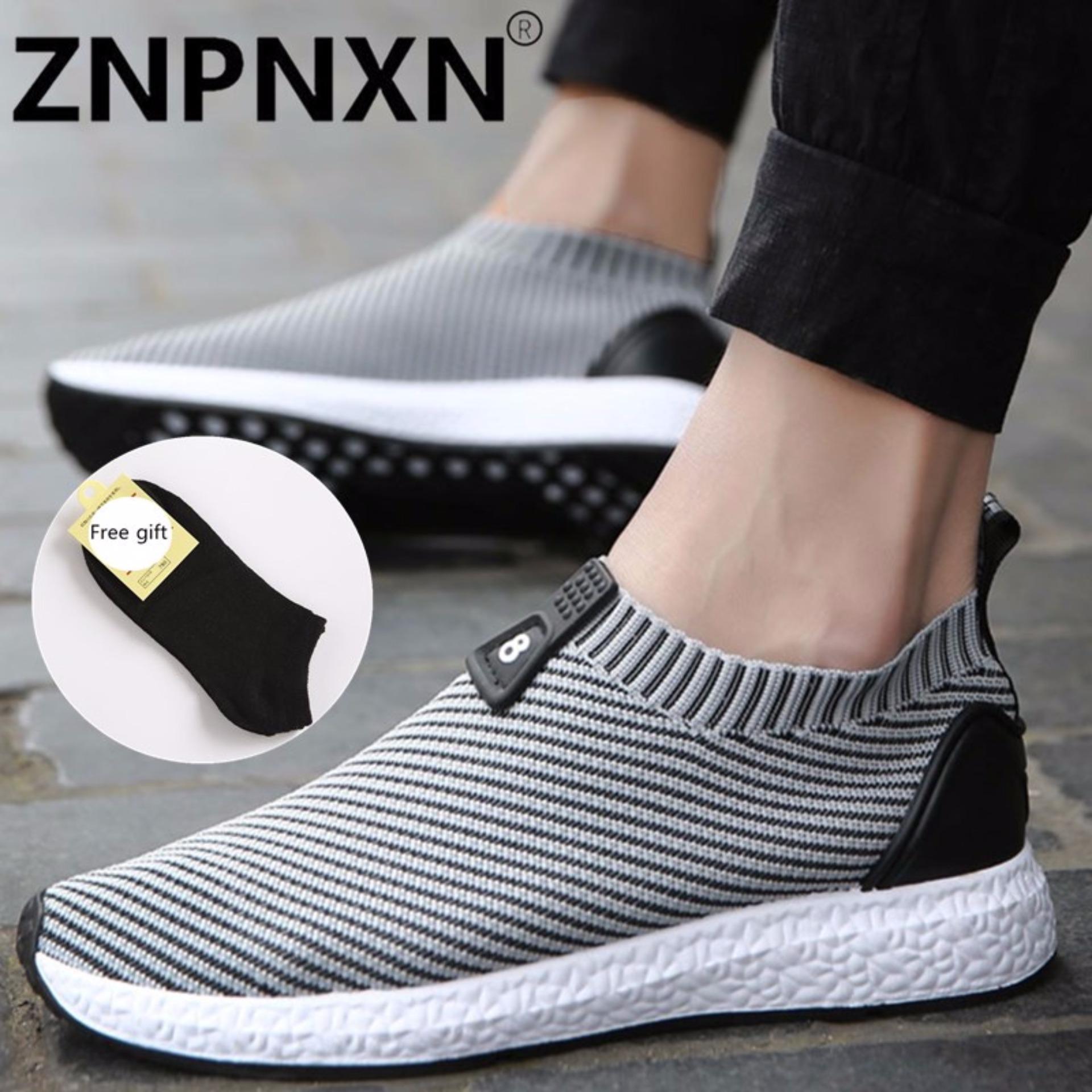Harga Znpnxn Kaus Menjalankan Sepatu Untuk Pria Mesh Bernapas Olahraga Sepatu Sneakers Pria Kenyamanan Cahaya Sepatu Olahraga Grey Intl Yang Murah Dan Bagus