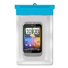 Zoe HTC Wildfire S Waterproof Bag Case -Biru