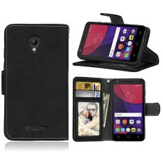 Zoeirc Fashion Protective Stand Wallet Purse Credit Card ID Holders Magnetic Flip Folio TPU Soft Bumper Leather Case Cover for Alcatel One Touch Pixi First OT4024D (4.0) - intl