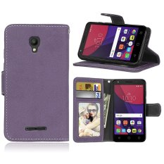 Zoeirc Fashion Pelindung Berdiri Dompet Dompet Kartu Kredit Pemegang Magnetic Flip Folio TPU Lembut Bumper Kulit Case Penutup untuk Alcatel One Touch Pixi First OT4024D (4.0) -Intl