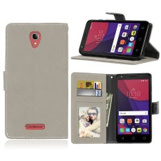 Zoeirc Fashion Protective Stand Wallet Purse Credit Card ID Holders Magnetic Flip Folio TPU Soft Bumper Leather Case Cover for Alcatel One Touch Pop 4 Plus (5.5 inch)