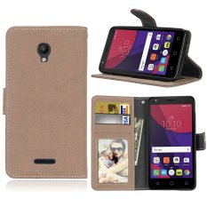 Zoeirc Fashion Protective Stand Wallet Purse Credit Card ID Holders Magnetic Flip Folio TPU Soft Bumper Leather Case Cover for Alcatel One Touch Pop Star OT5022 5022D