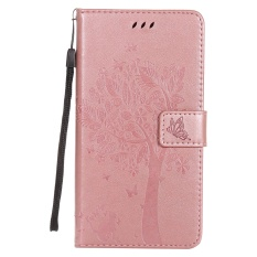 Zoeirc Fashion Tree Protective Stand Wallet Purse Credit Card ID Holders Magnetic Flip Folio TPU Soft Bumper PU Leather Ultra Slim Fit Case Cover for Huawei Honor 5A / Y6II Y6 2 / Holly 3 - intl