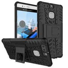 Zoeirc Heavy Duty Shockproof Dual Layer Hybrid Armor Protective Cover with Kickstand Case for Huawei Ascend P9 - intl