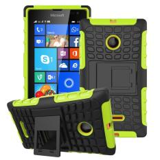 Zoeirc Heavy Duty Shockproof Dual Layer Hybrid Armor Protective Cover with Kickstand Case for Nokia Lumia 435 - intl