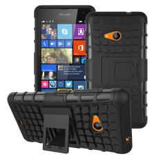 Zoeirc Heavy Duty Shockproof Dual Layer Hybrid Armor Protective Cover with Kickstand Case for Nokia Lumia 535 - intl