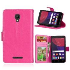 Zoeirc Mewah PU Leather Wallet Flip Protective Case Cover dengan Slot Kartu dan Stand untuk Alcatel One Touch Pixi First OT4024D (4.0) -Intl