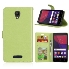 Zoeirc Luxury PU Leather Wallet Flip Protective Case Cover with Card Slots and Stand for Alcatel One Touch Pop 4 (5.0 inch)