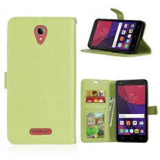 Zoeirc Luxury PU Leather Wallet Flip Protective Case Cover with Card Slots and Stand for Alcatel One Touch Pop 4 Plus (5.5 inch)