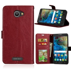 Zoeirc Luxury PU Leather Wallet Flip Protective Case Cover with Card Slots and Stand for Alcatel One Touch Pop 4S (5.5 inch)