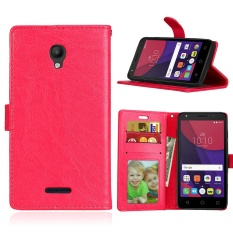 Zoeirc Luxury PU Leather Wallet Flip Protective Case Cover with Card Slots and Stand for Alcatel One Touch Pop Star OT5022 5022D - intl
