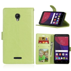 Zoeirc Luxury PU Leather Wallet Flip Protective Case Cover with Card Slots and Stand for Alcatel One Touch Pop Star OT5022 5022D