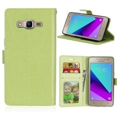 Zoeirc Mewah Pu Kulit Pelindung Pembalik Dompet Case Cover dengan Slot Kartu dan Berdiri untuk Samsung GALAXY Grand Prime Plus/J2 Perdana/ g532F-Intl