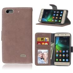 Zoeirc Pelindung Berdiri Dompet Dompet Kartu Kredit Pemegang Magnetic Flip Folio TPU Lembut Bumper Kulit Case Penutup untuk Huawei Honor 4C/G Play Mini-Intl