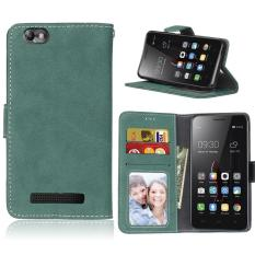 Zoeirc Protective Stand Wallet Purse Credit Card ID Holders Magnetic Flip Folio TPU Soft Bumper Leather Case Cover for Lenovo Vibe C A2020 - intl