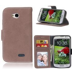 Zoeirc Pelindung Berdiri Dompet Dompet Kartu Kredit Pemegang Magnetic Flip Folio TPU Lembut Bumper Kulit Case Penutup untuk LG Optimus L70-Intl