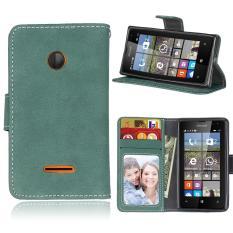 Zoeirc Pelindung Berdiri Dompet Dompet Kartu Kredit Pemegang Magnetic Flip Folio TPU Lembut Bumper Kulit Case Penutup untuk Nokia Microsoft Lumia 435-Intl
