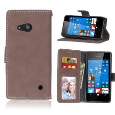 Zoeirc Protective Stand Wallet Purse Credit Card ID Holders Magnetic Flip Folio TPU Soft Bumper Leather Case Cover for Nokia Microsoft Lumia 550 - intl