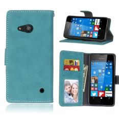 Zoeirc Pelindung Berdiri Dompet Dompet Kartu Kredit Pemegang Magnetic Flip Folio TPU Lembut Bumper Kulit Case Penutup untuk Nokia Microsoft Lumia 550-Intl
