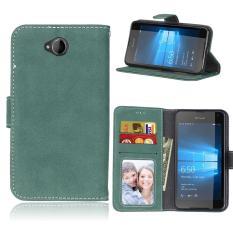 Zoeirc Pelindung Berdiri Dompet Dompet Kartu Kredit Pemegang Magnetic Flip Folio TPU Lembut Bumper Kulit Case Penutup untuk Nokia Microsoft Lumia 650-Intl